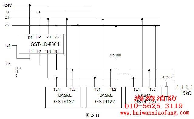海湾带电话插孔手动报警按钮与gst-ld-8304模块配套